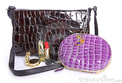 Handbag  and a purse And cosmetics subjects