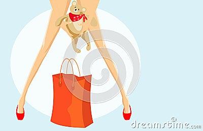 Handbag and toy