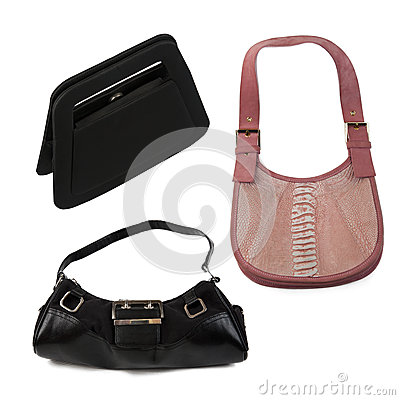 Handbags isolated over white background