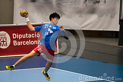 Handball 2013 de GCUP. Granollers. Photo stock éditorial