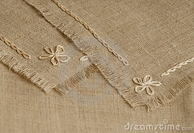 Handcraft o fragmento do serviette