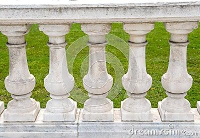 Handcrafted stone pillar railings