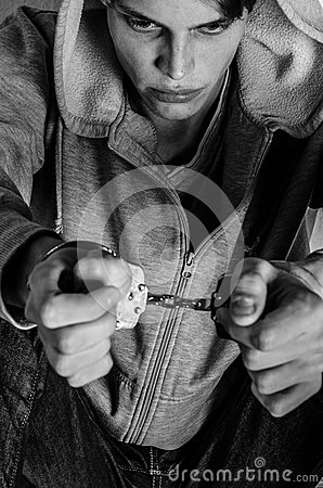 Handcuffed male