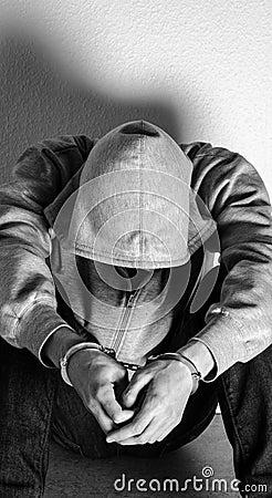 Handcuffed person