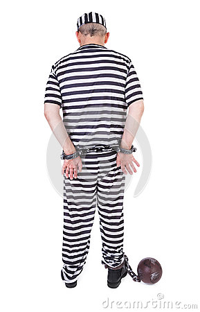Handcuffed prisoner