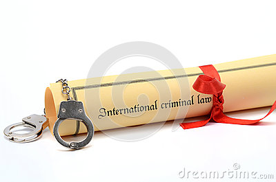 Handcuffs and International criminal law document