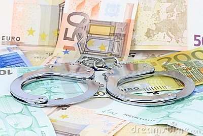 Handcuffs on the money