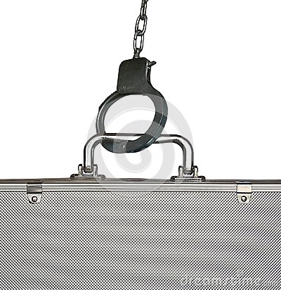 Handcuffs and suitcase