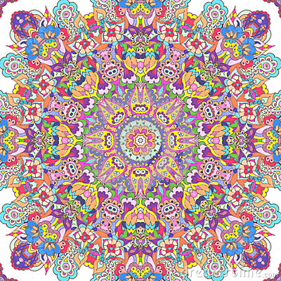 Handdrawn kaleidoscope  seamless