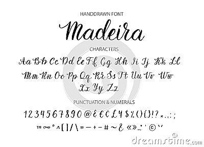 Handdrawn Vector Script Font Brush Style Textured Calligraphy Cursive Typeface Cartoon