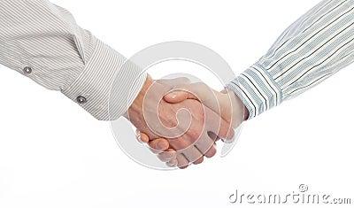 Handdruk van bedrijfsmensen