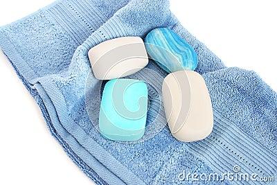 Handdukar och tvålar
