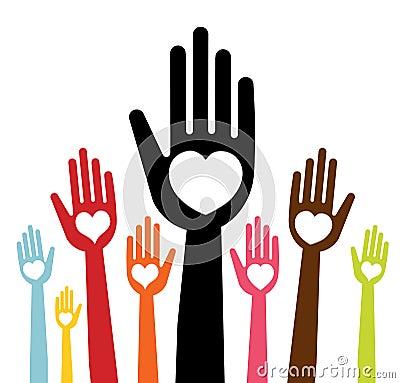 Handen met liefde