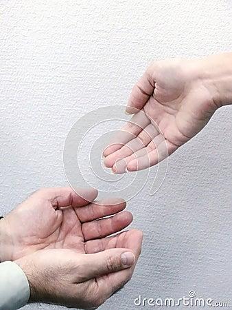 Handen van mensen. Beweging.