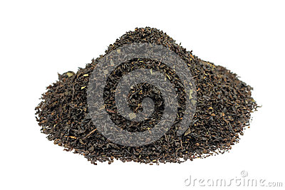 a handful of black tea leaf