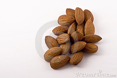 Handful of Healthy Raw Almonds