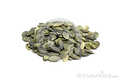 A handful of pumpkin seeds