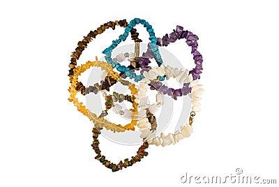 Handful  of stone beads