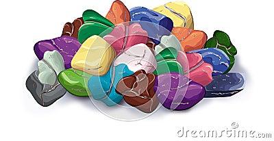 Handful of stones, minerals