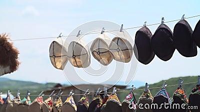 Handgemachte georgische Andenken stock video footage