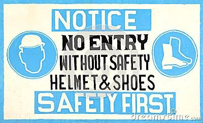 Handgemachtes Sicherheitszeichen