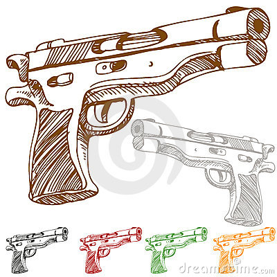 Handgun Sketch