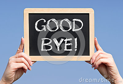 Handheld chalkboard good bye