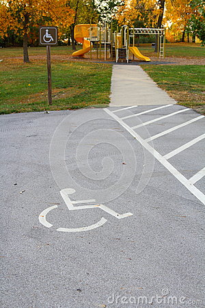 Handicap access to playground