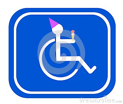 Handicap birthday sign