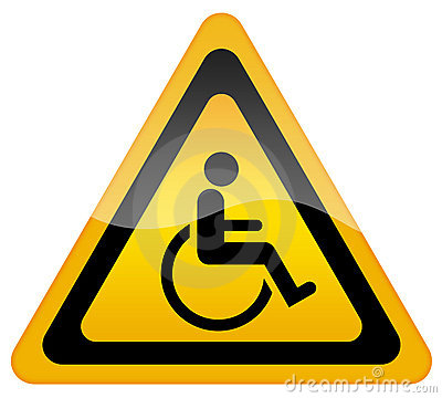Handicap disabled sign