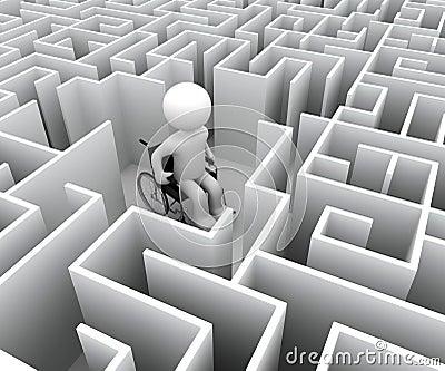 Handicap en labyrint