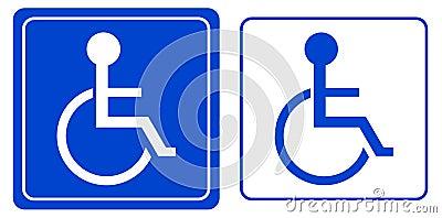 Handicap of het symbool van de rolstoelpersoon