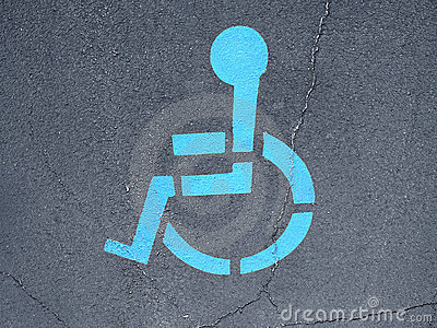 Handicap icon on road