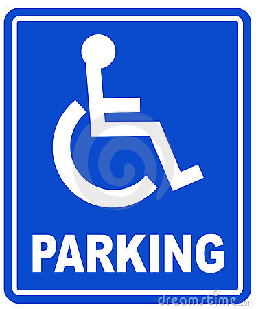 Free Handicap Parking Sign Royalty Free Stock Image - 4672126
