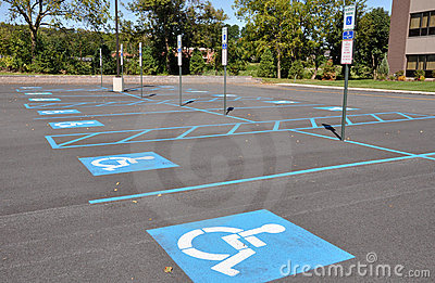 Handicap Parking Stock Image - Image: 1055811