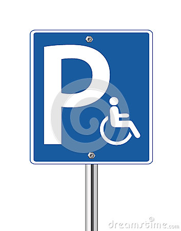 Handicap parking traffic sign