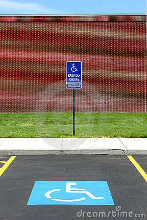 Handicap parking van acccessible