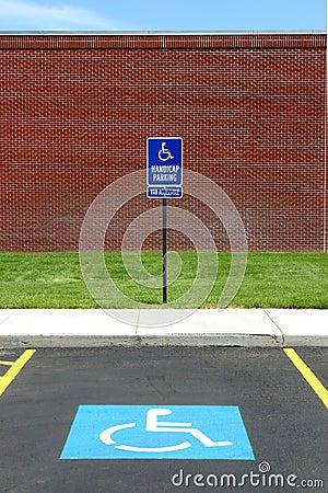 Free Handicap Parking Van Acccessible Stock Image - 182431