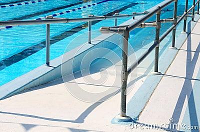 Handicap Ramp Leading To Swimming Pool Royalty Free Stock Photos Image 6106018