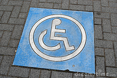 Handicap sign on parking
