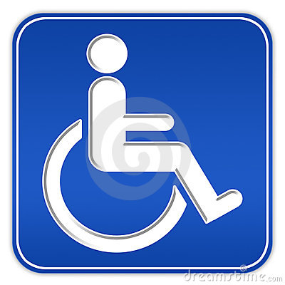 Handicap sign with wheelchair