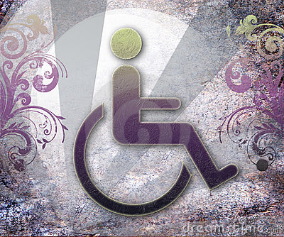 Handicap symbol of accessibility,background
