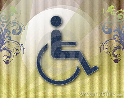 Handicap symbol of accessibility,retro background