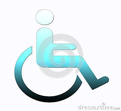 Handicap symbol, disabled sign