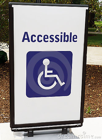 Handicapped Access Sign