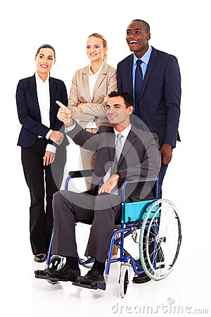 Handicapped business leader