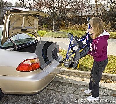 Handicapped Four Wheel Walker