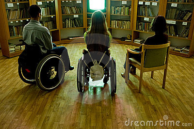 Handicapped in front of a TV