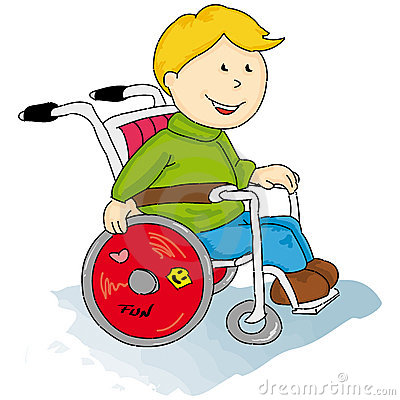 Handicapped little boy