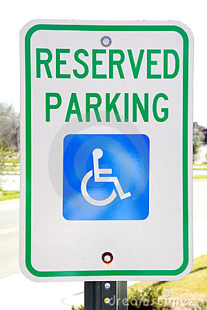 Free Handicapped Parking Sign Stock Photography - 13477052